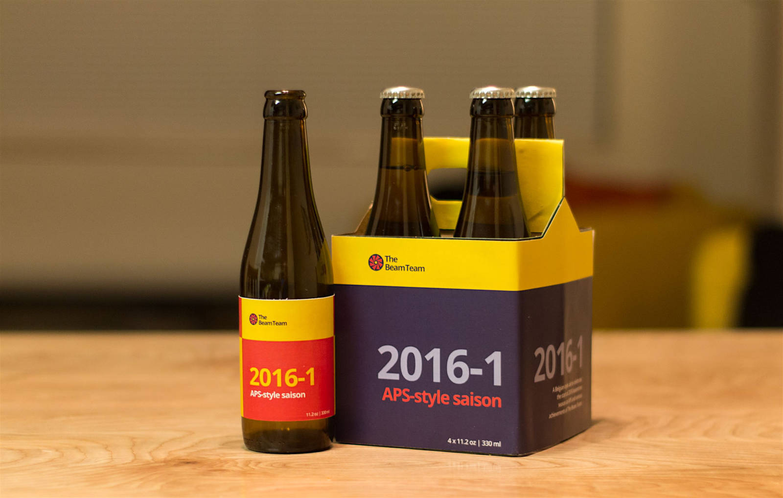 The Beam Team brew carton
