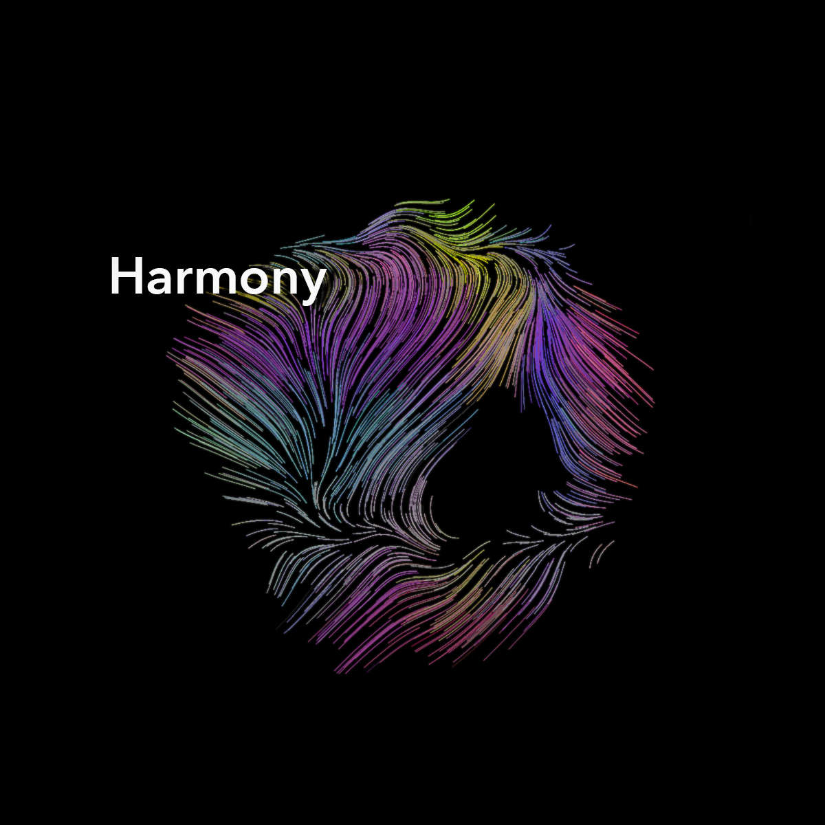 Harmony, a generative art project to explore the idea that order emerges from chaos
