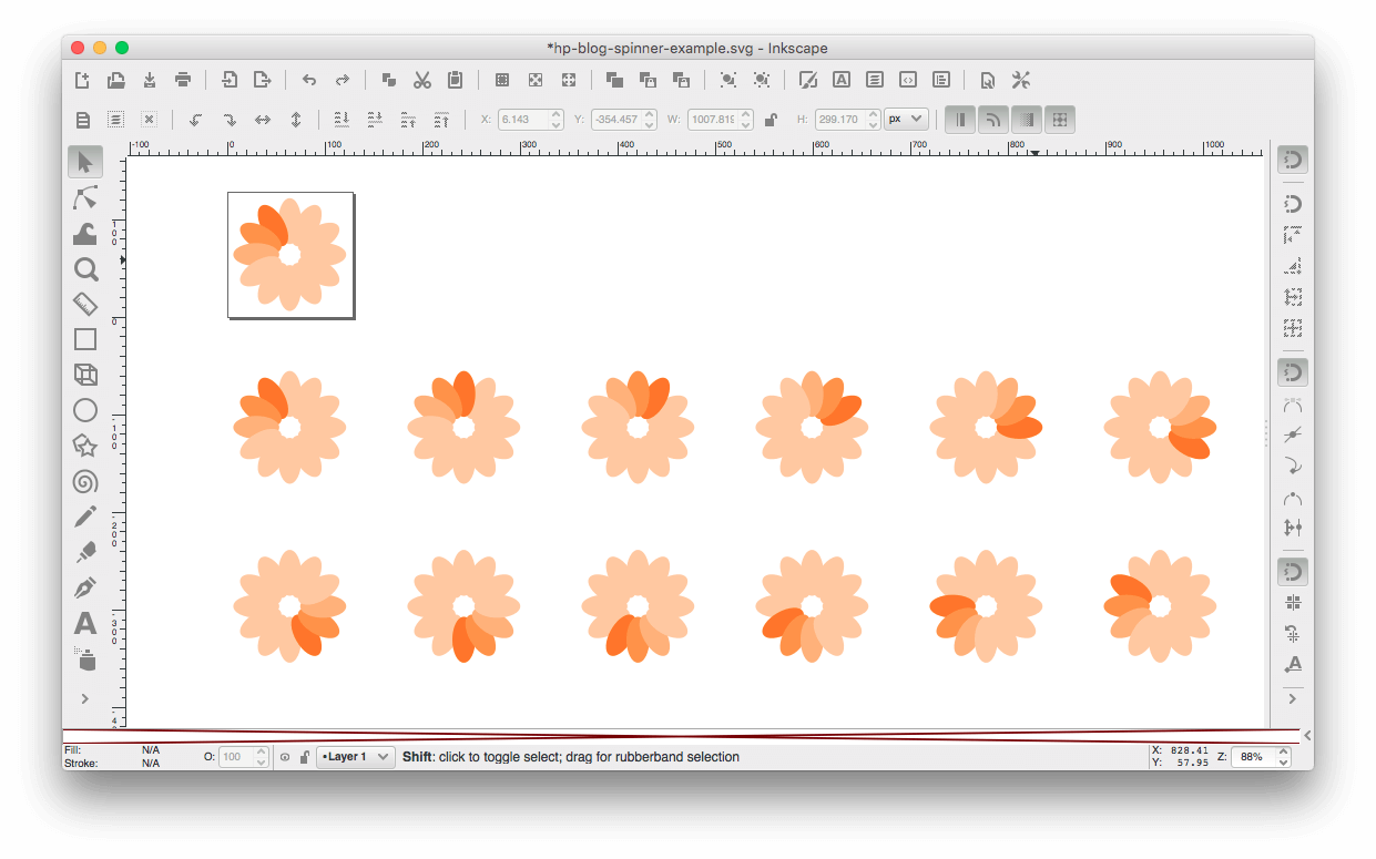 An Easy Preloader GIF Making Workflow in Inkscape and Imagemagick